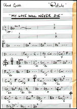 My Love Will Never Die Chord Sheet