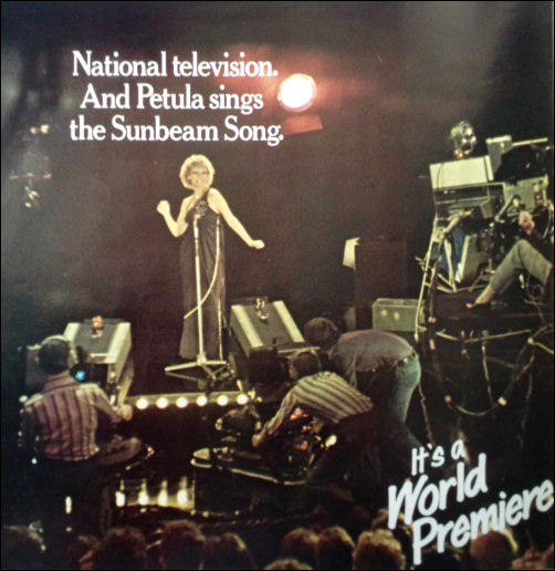 National televison and Petula sings the Sunbeam song